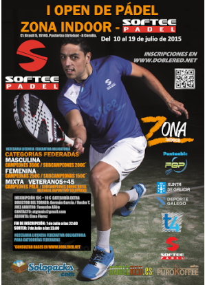 OPEN ZONA INDOOR SOFTEE PADEL: Cartel