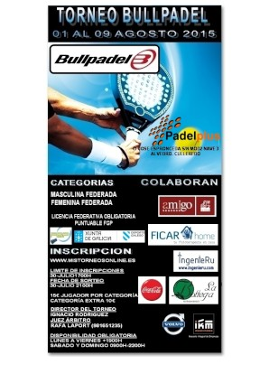Torneo BullPadel: Cartel