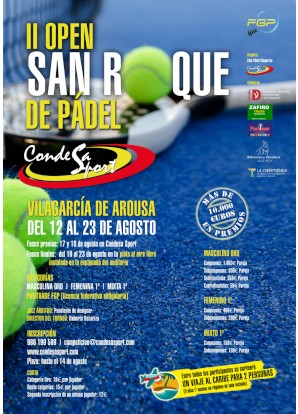 II Open de Padel San Roque: Cartel