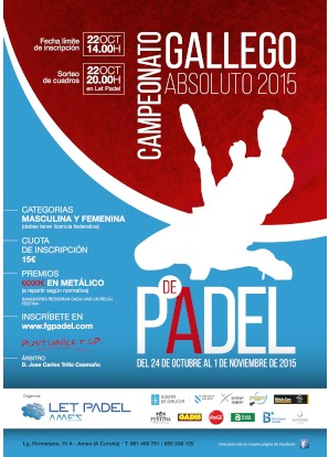 Campeonato Gallego Absoluto 2015: Cartel