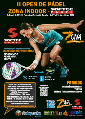 II Open de Pádel Zona Indoor Softee: Cartel