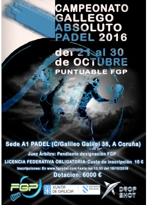 Campeonato Gallego Absoluto 2016: Cartel