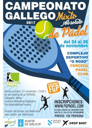 Campeonato Gallego Mixto 2017: Cartel
