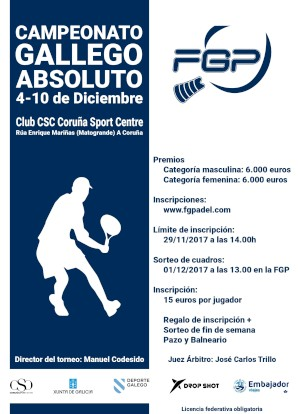 Campeonato Gallego Absoluto 2017: Cartel