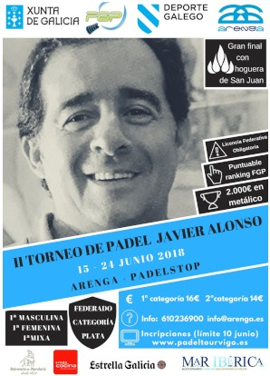 II Memorial Javier Alonso: Cartel