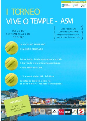 I Torneo Vive O Temple-ASM: Cartel