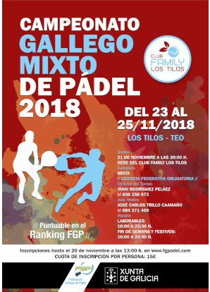 Campeonato Gallego Mixto 2018: Cartel