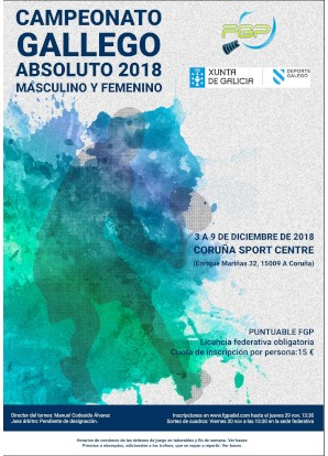 Campeonato Gallego Absoluto 2018: Cartel